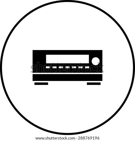 av receiver symbol - stock vector