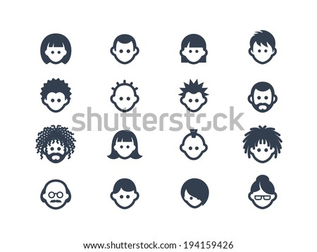 Avatar and people icons - stock vector