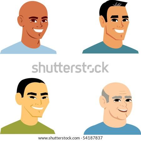 Avatar Icon SET 1 - Cartoon portrait clipart illustratoin Collection. - stock vector
