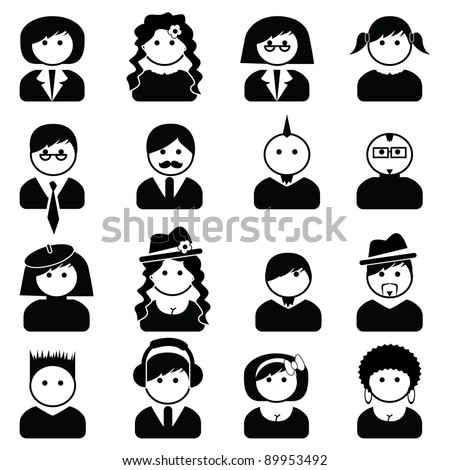 Avatar people icons - stock vector
