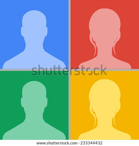Avatars colour set vector illustration, eps10, easy to edit - stock vector