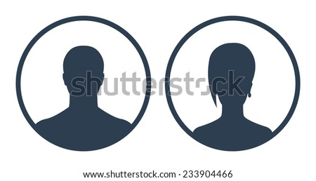 Avatars in circles vector illustration, eps10, easy to edit - stock vector
