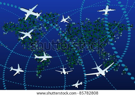 Aviation - stock vector