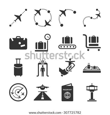 Aviation icon series 1 - stock vector