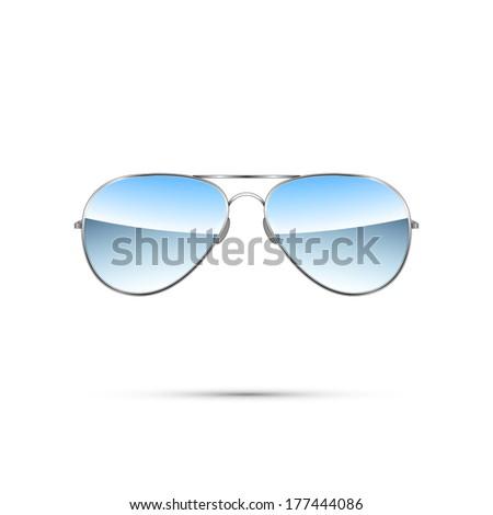 Aviator sunglasses isolated on white. Vector illustration - stock vector