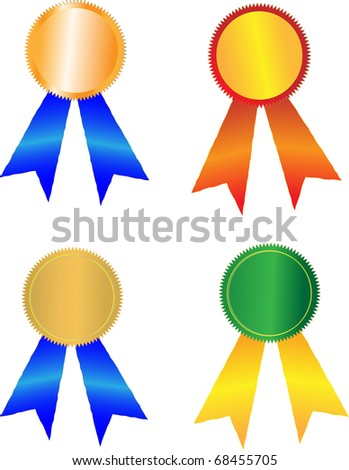 Award badges vector illustration