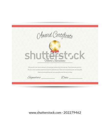 Award Certificate Design Template Stock Vector 202279462 Shutterstock