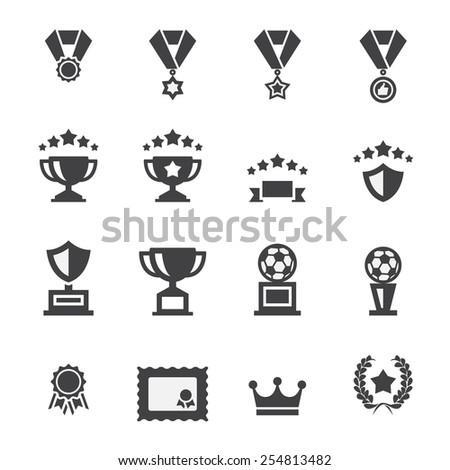 award icon set - stock vector