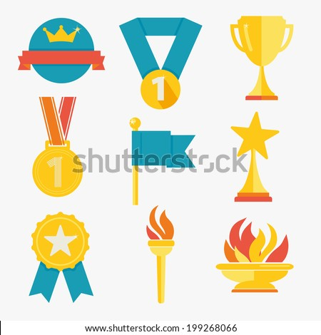 Award icons  - stock vector