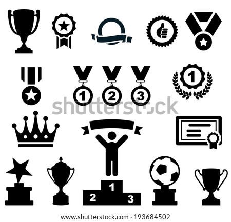 Award Icons Set.Vector - stock vector