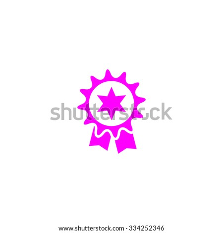 Award. Pink flat icon. Simple vector illustration pictogram on white background - stock vector