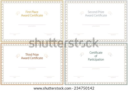 Recognition Award Certificate Images RoyaltyFree Images – First Place Award Certificate