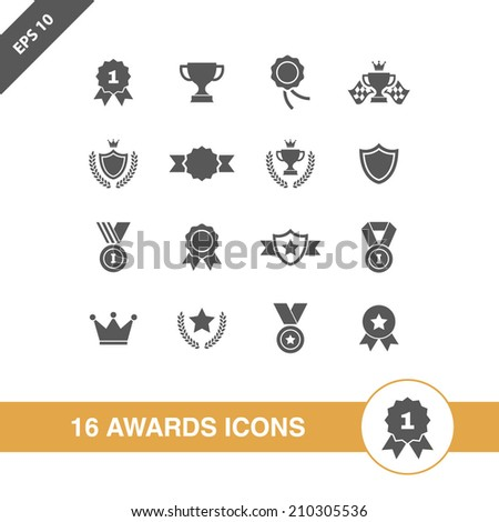 Awards icons set.