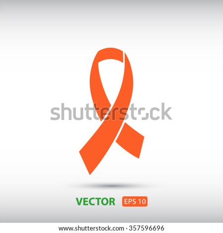 Awareness Ribbon icon. One of set web icons - stock vector