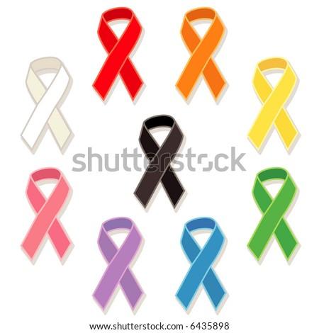Awareness Ribbons - stock vector