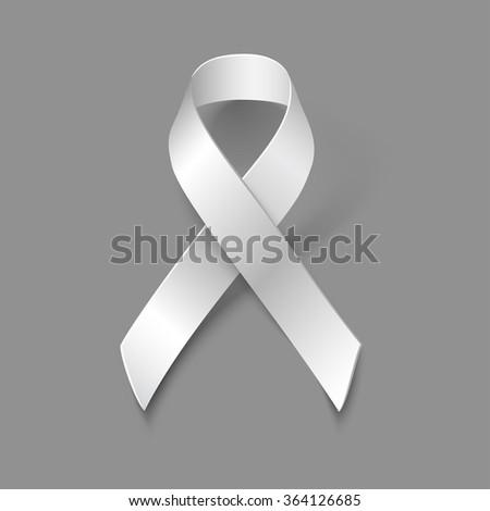 Awareness White Ribbon Symbol Violence Against Stock Vector