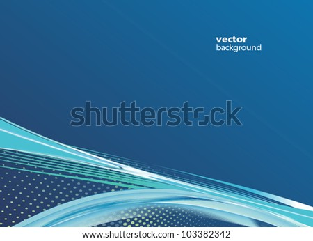 awesome abstract blue background - stock vector