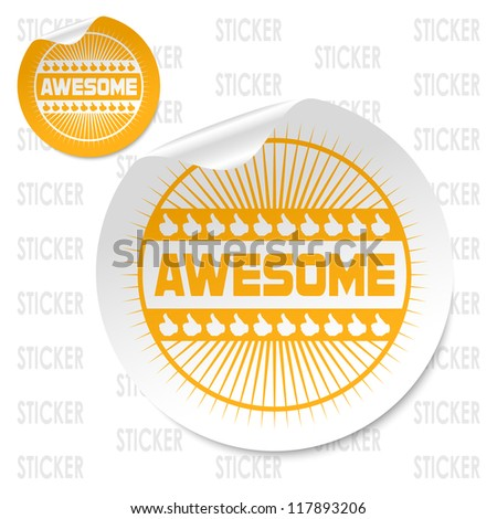 awesome stick - stock vector