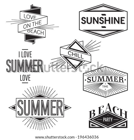 Awesome summer vector! Vintage and user friendly vector.  This vector was co-create by Vincent Locchi and Fontyou. - stock vector