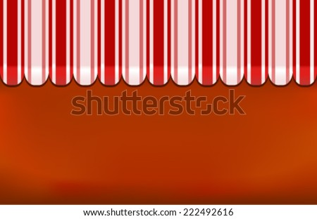 awning shop background on red - stock vector