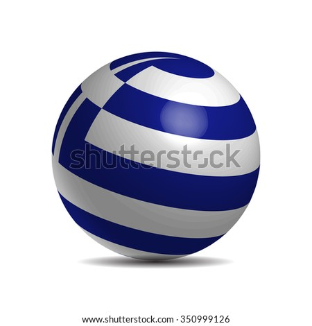 Azerbaijan flag on 3D ball, vector illustration - stock vector