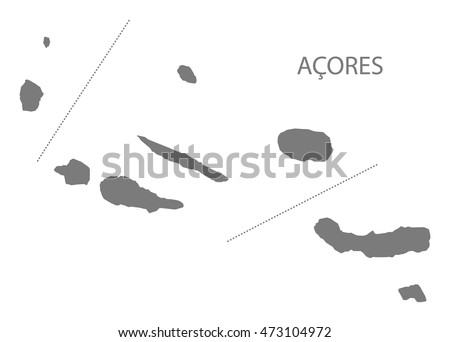Azores Stock Vectors Images Vector Art Shutterstock - Portugal map azores