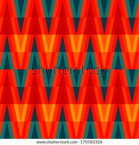 aztec bright triangle seamless pattern - stock vector