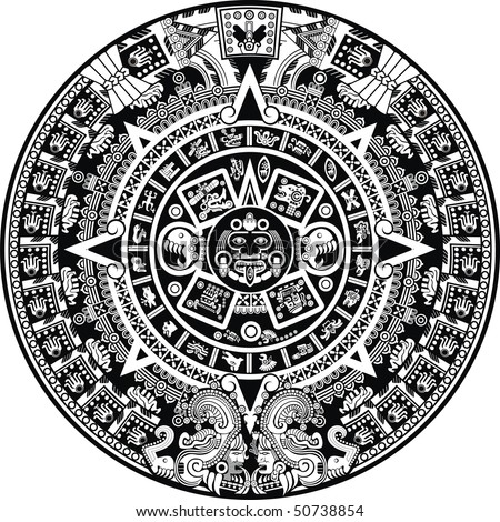 Aztec Calendar - stock vector