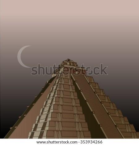 Aztec /  Mayan Pyramid - stock vector