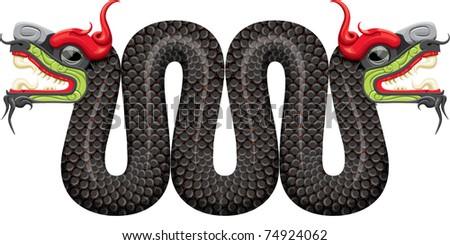 Aztec Snake - stock vector