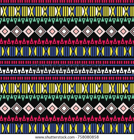 Aztec Tribal Pattern In Vector Wallpaper Textile Web Cards Ethnic