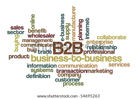 B2B Business-to-business - Word Cloud - stock vector