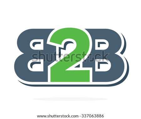 B2B letters logo. Business to Business icon - stock vector