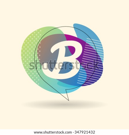 B Letter Alphabet Logo Icon Design Template Element. Vector Color Sign Easy Editable for Your Design - stock vector