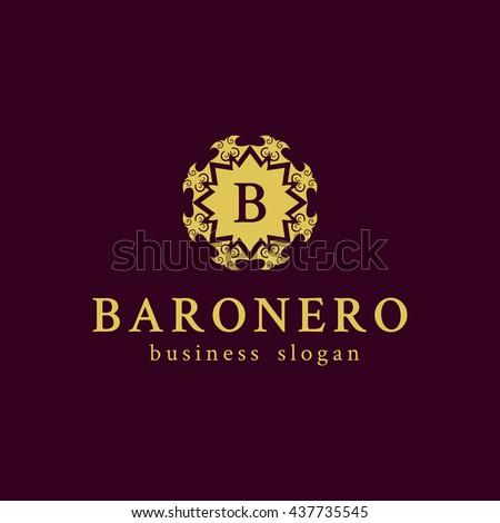 B Logo Luxury Monogramvintage Logologo Designboutique Stock Vector ...