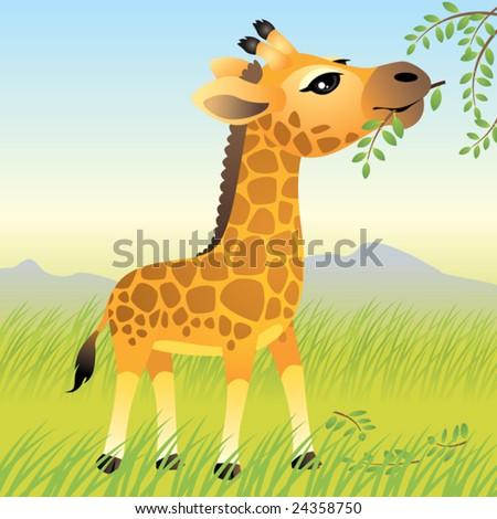 Baby Animal collection: Giraffe  More baby animals in my portfolio. - stock vector