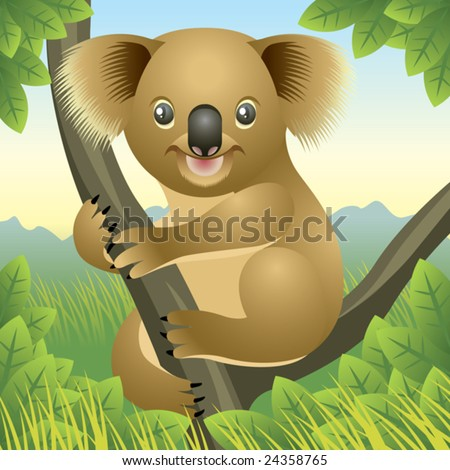 Baby Animal collection: Koala  More baby animals in my gallery. - stock vector
