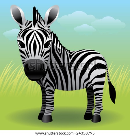Baby Animal collection: Zebra  More baby animals in my gallery. - stock vector