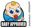 Baby Approved Seal - stock vector