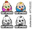 Baby Approved Seals - stock vector
