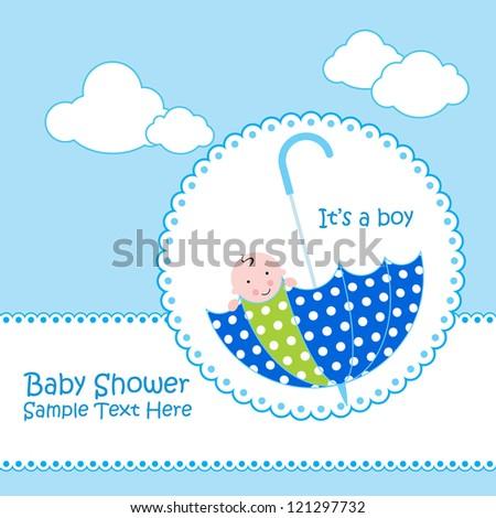 Baby Boy Announcement Card Cute Elephant Vector 90753125 – Cute Baby Boy Announcements