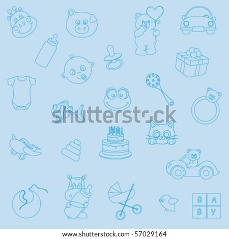 baby background - stock vector