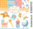 baby backgrounds - stock vector