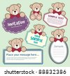baby bear frames for text - stock vector