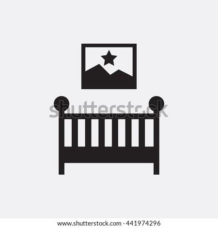 Baby bed Icon, Baby bed Icon Eps10, Baby bed Icon Vector, Baby bed Icon Eps, Baby bed Icon Jpg, Baby bed Icon, Baby bed Icon Flat, Baby bed Icon App, Baby bed Icon Web, Baby bed Icon Art, Baby bed - stock vector