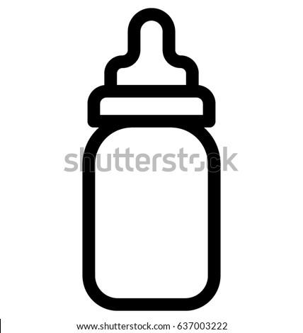 baby bottle vector icon stock vector royalty free 637003222 rh shutterstock com baby bottle icon vector free baby feeding bottle vector
