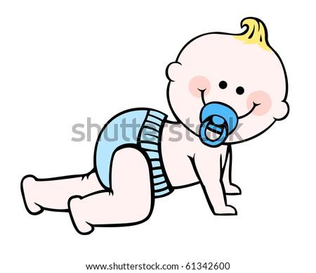 baby boy - stock vector