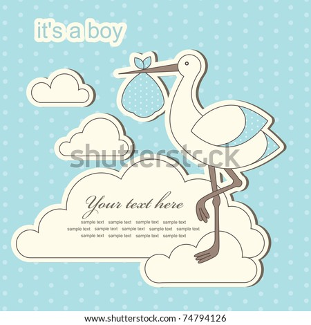 Baby Boy Announcement Stock Images, Royalty-Free Images & Vectors ...