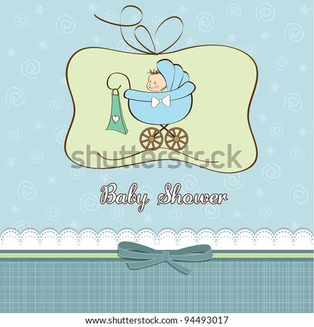 Cute Baby Boy Announcement Card Stork Vector 130871696 – Cute Baby Boy Announcements