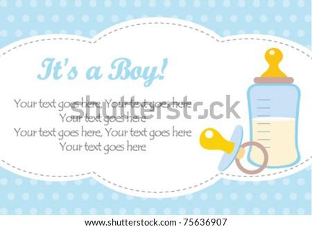 baby boy arrival - stock vector